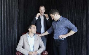 Airbnb founders, Nathan Blecharczyk, Joe Gebbia and Brian Chesky, in their San Francisco office